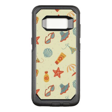 Beach Themed Summer Beach Pattern OtterBox Commuter Samsung Galaxy S8 Case
