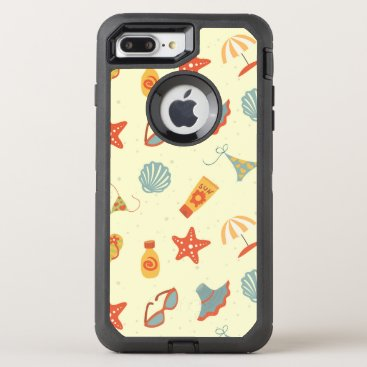Beach Themed Summer Beach Pattern OtterBox Defender iPhone 7 Plus Case