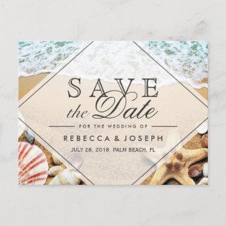 Summer Beach Photo Starfish Wedding Save the Date Announcement Postcard