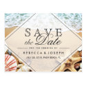 Summer Beach Photo Starfish Wedding Save the Date Postcard