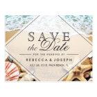 Summer Beach Photo Starfish Wedding Save the Date Postcard