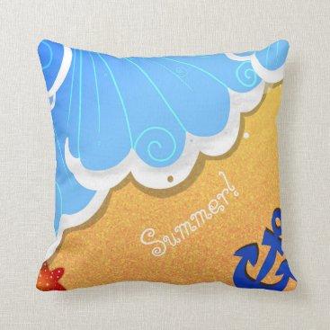 Beach Themed Summer beach pillow