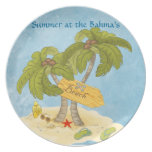 beach plate, summer beach plate, summer beach