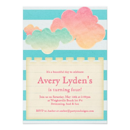 SummeR Beach Pool Party Baby Shower Bridal Invite from Zazzle.com