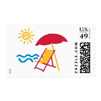 Summer beach postage