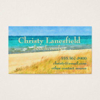 Summer Beach Scene Business Card