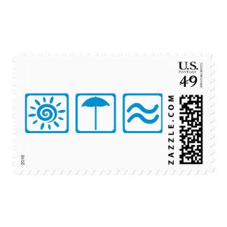 Summer beach stamps