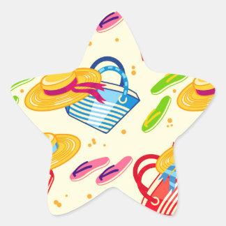 Summer beach star sticker