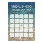 "Summer Beach Starfish 5x5 Bridal Bingo Cards 3.5"" X 5"" Invitation Card"
