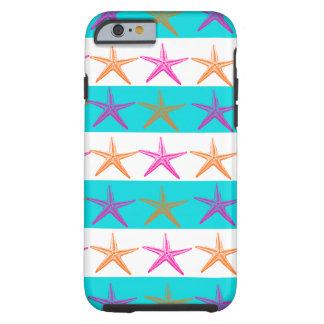 Summer Beach Starfish Teal Stripes iPhone 6 Case
