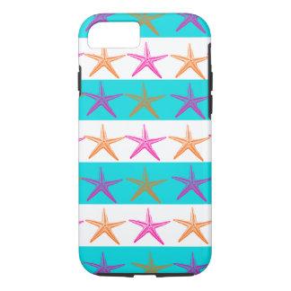 Summer Beach Starfish Teal Stripes iPhone 7 Case