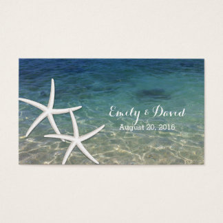 Summer Beach Starfish Wedding Website Insert Card