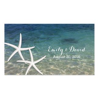Summer Beach Starfish Wedding Website Insert Card Business Card
