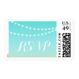 Summer Beach String Light RSVP Stamp
