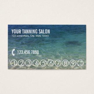 Summer Beach Tanning Salon Loyalty Punch Business Card