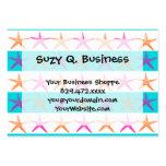 Summer Beach Theme Starfish on Teal Stripes Business Card Templates