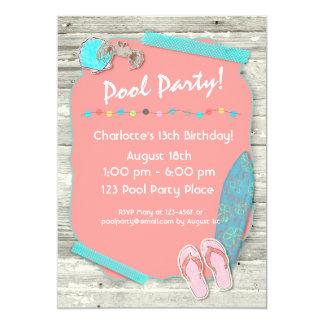 Summer Beach Themed Party Card