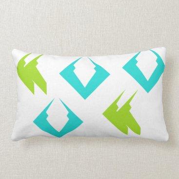 Beach Themed Summer Beach Travel Pillows Lime Aqua Minimalist