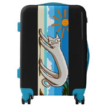 Beach Themed Summer Beach Tropical Cat Luggage