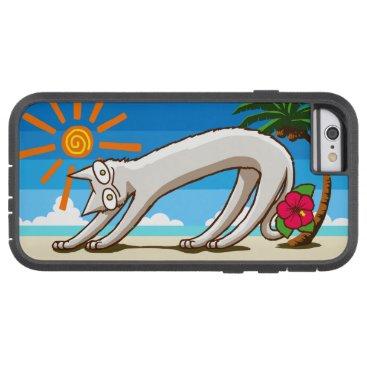 Beach Themed Summer Beach Tropical cat Tough Xtreme iPhone 6 Case