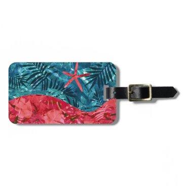 Beach Themed Summer Beach Tropical Pattern Bag Tag