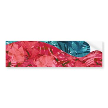 Summer Beach Tropical Pattern Bumper Sticker