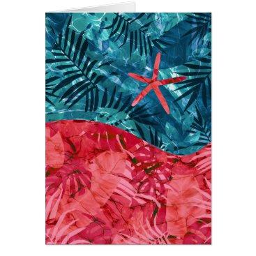 Beach Themed Summer Beach Tropical Pattern Card