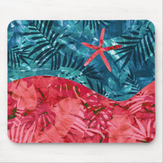 Summer Beach Tropical Pattern Mouse Pad