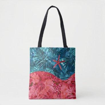 Beach Themed Summer Beach Tropical Pattern Tote Bag
