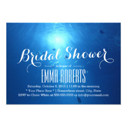 Under the sea bridal shower invitations announcements zazzle summer beach under sea bridal shower card filmwisefo Images