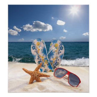Summer Beach Vacation Poster