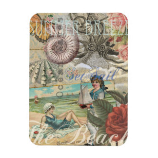 Summer beach vintage retro victorian magnet