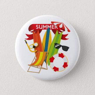 Summer Beach Watersports Pinback Button