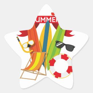 Summer Beach Watersports Star Sticker