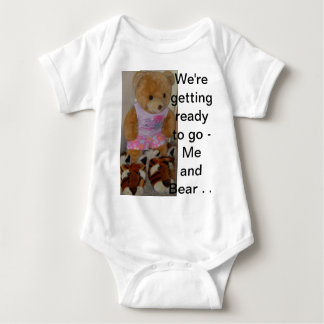"""Summer Bear in Tiger Shoes""  CricketDiane Baby Bodysuit"