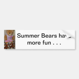 """Summer Bear in Tiger Shoes""  CricketDiane Car Bumper Sticker"