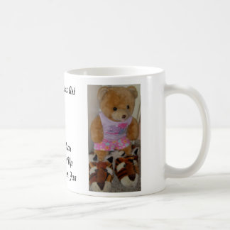 """Summer Bear in Tiger Shoes""  CricketDiane Classic White Coffee Mug"