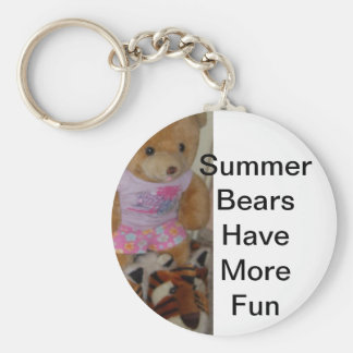 """""""Summer Bear in Tiger Shoes""""  CricketDiane Keychains"""