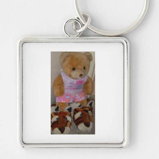 """""""Summer Bear in Tiger Shoes""""  CricketDiane Key Chain"""