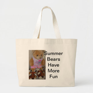 """Summer Bear in Tiger Shoes""  CricketDiane Large Tote Bag"