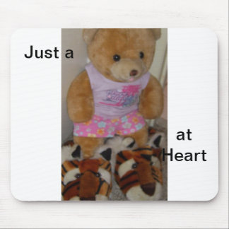 """""""Summer Bear in Tiger Shoes""""  CricketDiane Mouse Pad"""