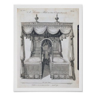 Summer bed in two compartments: plate 41, from 'Th Print