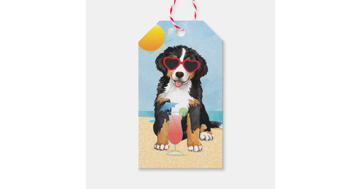 Summer Bernese Mountain Dog Gift Tags