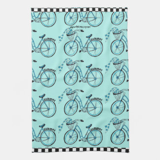 "Summer Bicycles Everywhere"" Hand Towel"