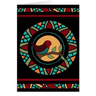 Summer Bird Mandala Card