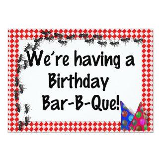 "Summer Birthday BBQ Invitation 5"" X 7"" Invitation Card"
