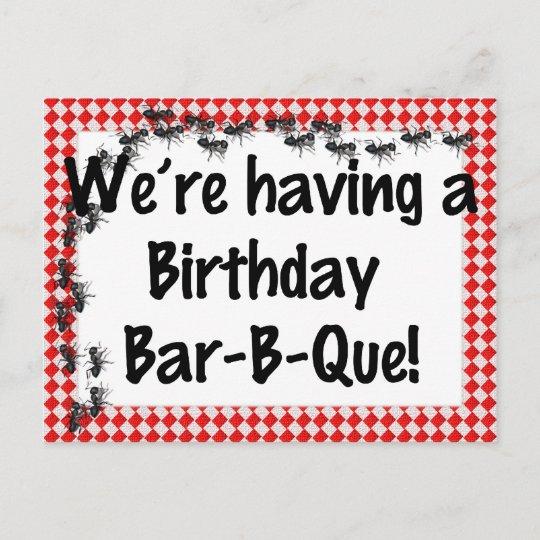 summer birthday bbq invitation zazzle com
