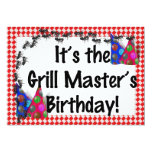 Summer Birthday BBQ Invitation Personalized Announcements