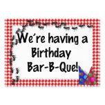 Summer Birthday BBQ Invitation Custom Invite