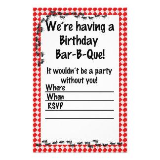 Summer Birthday BBQ Invitation Stationery